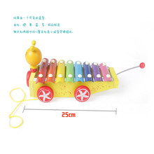 HEY FUNNY 1pc enlightenment Roll Bell music aids wooden  25*11cm children toys small octave hand knock piano Toys