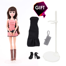 30CM Fashion Doll 1 PC 3D Lifelike Eyes with Clothes Suit 12-Jointed Dolls for barbie Doll Accessories Best Gift for Girl DIY(China)