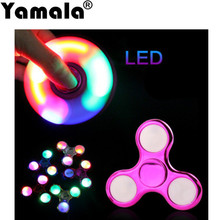 [Yamala] LED Light Finger Hand Spinner Colorful Lighting For Autism and ADHD Hand Spiner Relief Focus anti stress Gift Toys