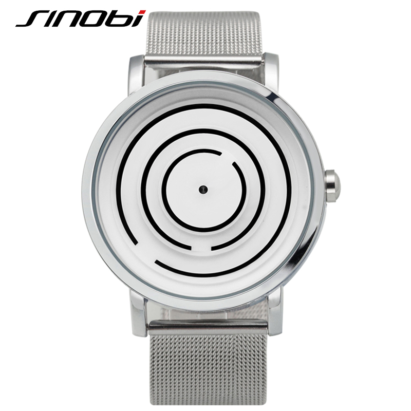 SINOBI Top Brand Luxury Watch Men Stainless Steel Mesh Strap Relojes Hombre 2017 Fashion Relogio Masculino Casual Maze style<br><br>Aliexpress
