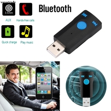 vovotrade Wireless Bluetooth Car Kit AUX Audio USB Bluetooth Receiver Adapter Support SD Card Handsfree For Laptop Phone MP3