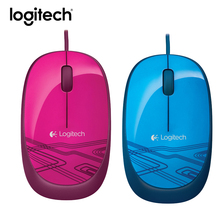 Logitech Wired Mouse Gaming Original M105 Gamer Mice Optical Rechargable Ergonomic Computer Mouse PC Laptop Computer Peripherals