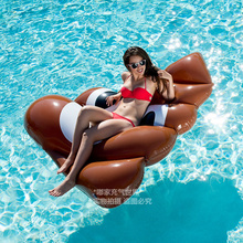 47 Inch Giant Swim Ring Flamingo Swimming Ring Pool Floats with Pump 120cm Large Beach Toy Pool Party Decor Inflatable Ride-On