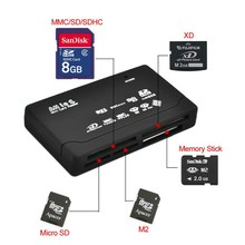 ALL in 1 All in One External USB Memory Card SDHC Mini Micro SD TF M2 MMC XD CF MS Card Reader for Laptop PC