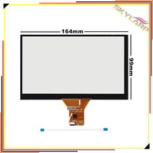Original 7 inch 6 wire 6 pin Capacitive touch Screen Panel For Car navigation DVD tablet PC 165mm*100mm 164mmx99mm Touchscreen
