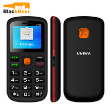 Original Uniwa V708 Mobile Phone Dual SIM Card Charging Cradle 2G Cellphone One SOS Button Blutooth 2.0 Cheap cell phones