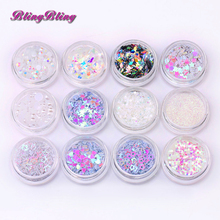 Blingbling New Arrival Holographic flake Nail Glitter Various paillette Nail Sequins Star Heart Design for Nail Art Decoration(China)