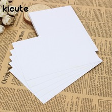 Kicute 50pcs White Adhesive Printer Paper A4 Self Adhesive Glossy Paper Label Sticker for Laser and Inkjet Printers Supply