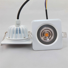 2015 New Design Dimmable No Need Driver 9W Samsung AC COB led downlight Kits Paint White CRI>80Ra 3-Year Warranty Retail Square(China)