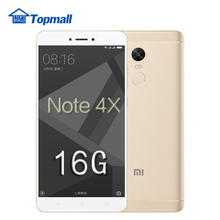 "Original Xiaomi Cell phone Redmi Note 4X 16GB 5.5 "" Snapdragon 625 MIUI 8  1080P  Fingerprint ID 4G FDD LTE google play freegift"
