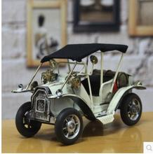 Creative vintage tin auto restoring ancient ways continental antique car model Miniatures decoration furnishing articles