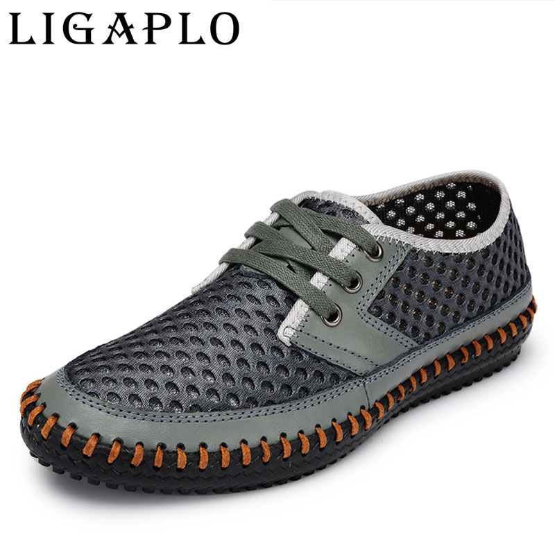 Hollow out Breathable cowhide new 2017 summer Genuine Leather High quality fashion shoes men  Casual shoe<br><br>Aliexpress