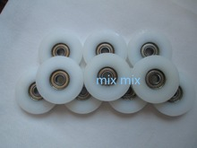10pcs U Nylon plastic Embedded 608 Groove Ball Bearings 8*46.5*10mm Guide Pulley(China)