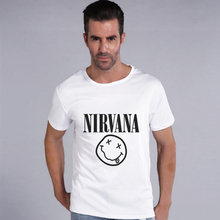 Fashion Rock Nirvana Green Day Red Hot Printed Men T Shirt Casual T-shirt Hipster Fashion Pattern Tees Cool Tops Cl18