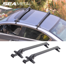 Car Roof Racks Rack Bars Travel Storage Aluminum Roof Boxes Luggage Rack Auto Accessories Automobiles Carrier Cross Bar on Cars(China)