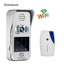 Free Shipping New Code / Keypad Wireless Wifi 720P Video Intercom Door Phone for iPad Phone Remote Monitor / Unlock + Doorbell