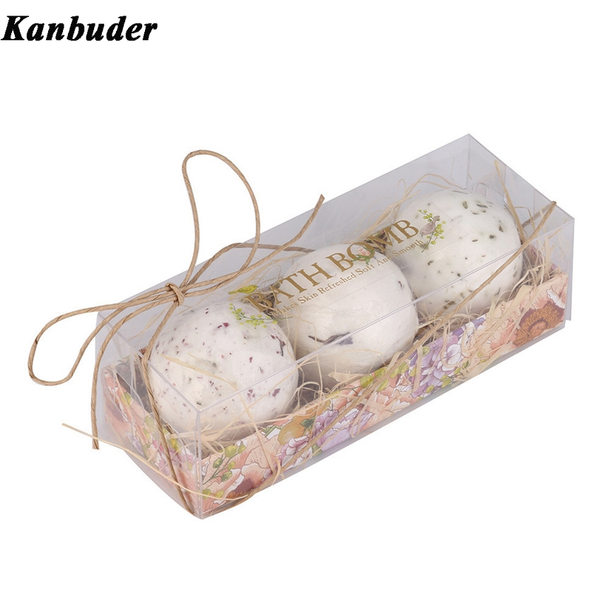 Drop Shipping 3pc/lot Gift Pack Lavender Flavor Bath Balls Salt Shower Soap 170623(China)