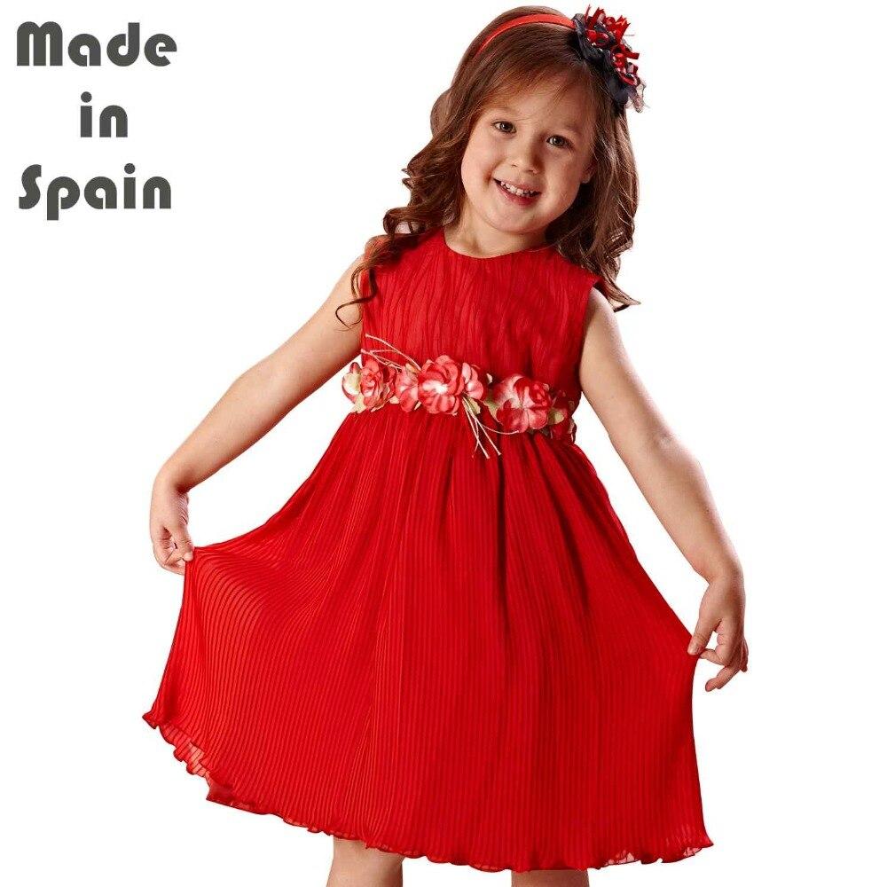i-lollipop Luxury Flower Girl Dresses Children Clothes Kids Girl Dress Ruby Fancy Embroidery<br>
