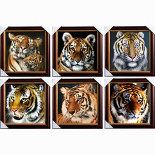 Top Fashion Diamond Embroidery Diy Diamond Painting Mosaic Picture Pattern Cross Stitch Full Rhinestone tiger(China)