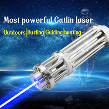 Freeshipping  Gatlin Military High power blue laser pointer  1000mw blue laser burning cigars With 5 laser cap with glass lens