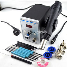 700W 858D ESD Soldering Station LED Digital Solder Iron desoldering station BGA Rework Solder Station Hot Air Gun tools set