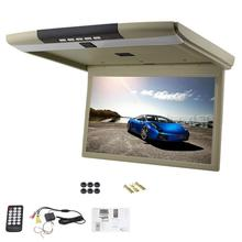 15 Inch Car Roof Mount Display HD LCD Screen Flip Down Monitor FM Modulator Overhead Player USB/SD/2 Video Input+Remote Control(China)