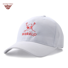 Custom Embroidery Baseball Caps Breathable Casquette Snapback Hip-Hop Casual Hats Letter Wake Up Cap Street Hats Gorras BQ023