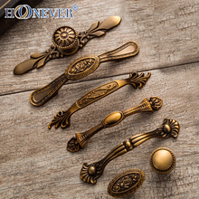 5pcs Vintage Door Handles Noble Antique Drawer Pulls Kitchen Cabinet Handles and Knobs Retro Furniture Handles