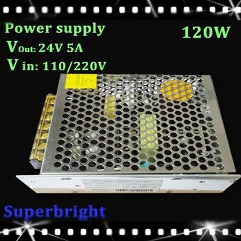 120W 24V 5A Switching Power Supply,110V/220V AC input,24V Output for led strip 1pcs<br><br>Aliexpress