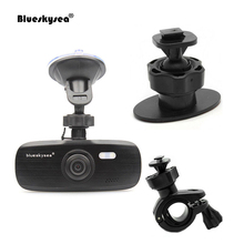 Blueskysea G1W-CB Capacitor FHD Car Dash Cam +Mirror Bracket + 3M Adhesive Mount