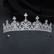 2017 New Hot European Luxurou Royal Family Heart Tiaras And Crowns.Quinceanera Silver AAA CZ For Girl Wedding King's(China)