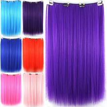 sky blue cosplay hair, clip in hair extensions, straight synthetic mega hair, hairpiece, color C013
