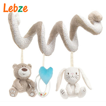 Baby Crib Toys Baby Bed Musical Mobile Soft Plush Rabbit Cot Stroller Hanging Rattle Toy Newborn Gift(China)