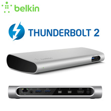 Belkin Thunderbolt 2 Express Dock HD with Cable (20Gbps,USB3.0, HDMI1.4, Network Card, Audio/Video) with Retail Packaging F4U085(China)