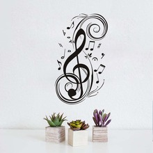 Musical Note Wall Stickers For Boys Music Pattern Diy Decor Vinyl Wall Sticker For Kids Decal Pvc Mural Paper Children Bedroom