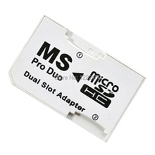 50pcs/lot Micro SD HC to Memory Stick MS Pro Duo Card Dual 2 Slot Adapter for Sony PSP 1000 2000 3000