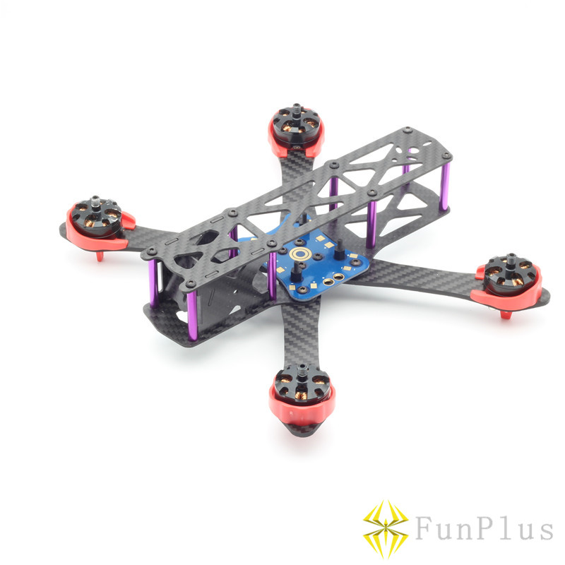 Martian 190MM 4-Axis Carbon Fiber Racing Quadcopter Frame Blue Power Distribution Board PDB Red Motor Protector for Through FPV<br>