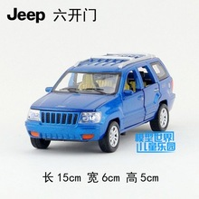 Candice guo alloy car model 1:32  Grand Cherokee jeep plastic motor pull back sound light collection children toy birthday gift