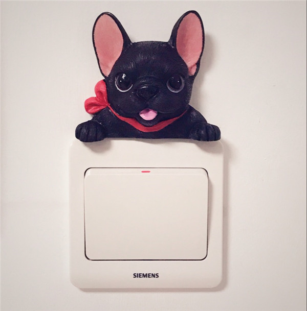 French Bulldog cute puppy dogs resin switch stickers fridge magnets - Buyer's Show 16