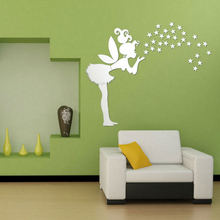 Girl Angel 3d Mirror Wall Stickers for Kids Rooms Home Decoration Accessories Cute 3d Wall Decal Sticker Art Home Decoration