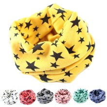 Cotton Baby Print Stars Scarf Kids Boy Girl Collar Scarves Shawl spring Children O Ring Neckerchief  bandana