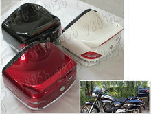 Motorcycle Trunk Luggage Case Tail Box Rack Backrest For Yamaha VStar 400 650 1100 1300 Virago Xv 250 535 750 1100 Road Star