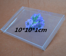 Qi Size:10*10*1m 30pcs/lot Transparent PVC Boxes Plastic PVC Photo Packaging Box Display Jewelry Packing Box Clear Craft Box