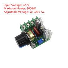 220V 2000W Speed Controller SCR Voltage Regulator Dimming Dimmers Thermostat(China)