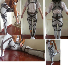 2017 Attack On Titan Cosplay Shingeki No Kyojin Cosplay Recon Corps Harness Belts Hookshot Costume belt suit Accessories
