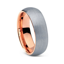 Very nice wedding band tungsten carbide ring rose gold color ring with all brush finish