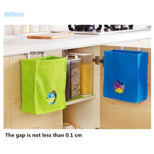 New Aduable Kitchen Supplies Debris Pouch With Hook Cupboard Back Door Hanging Garbage Storage Package Kitchen Storage Organizer