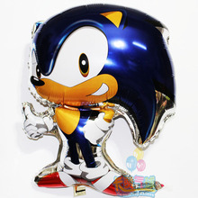 HOT 48*68cm Classic Toys Inflatable Sonic Balloons Party Decorations Mylar Balloons Cartoon Character inflatable Helium Balloons