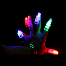 300pcs/lot 4 colors LED finger light flashing Leaser lamp christmas night lights children's day party toys gifts(China)