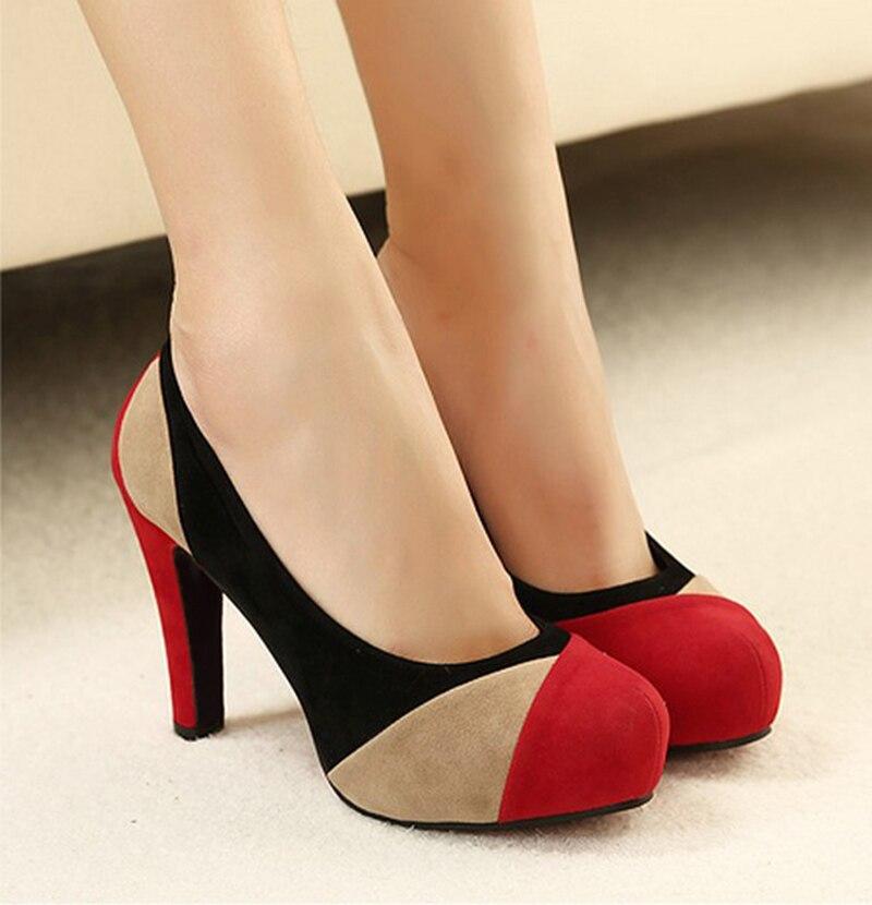 Wholesale Low Price New 2016 Fashion Women Pumps Noble Shoes Thin Super High Heels Platforms Vogue Blue Red Multicolor Shoes 0<br><br>Aliexpress